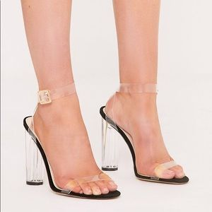 ADORABLE HIGH HEELS CLEAR - SIZE 6